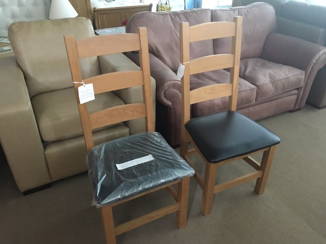 New oak chairs