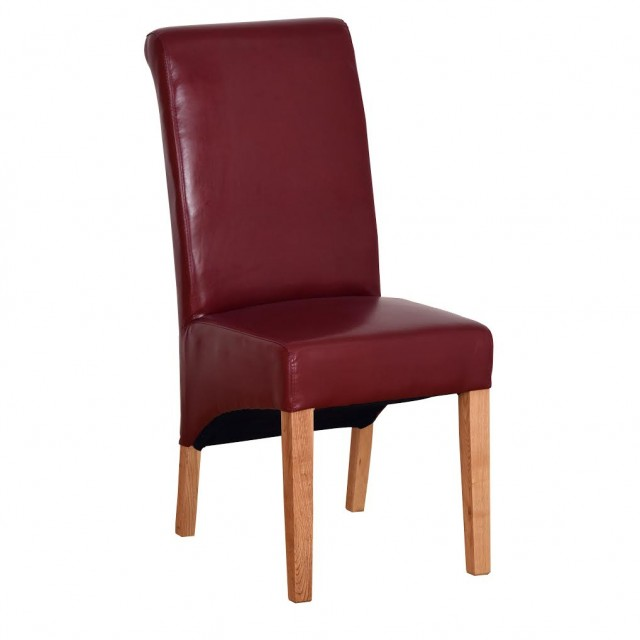 Red Leather Dining Room Chairs: Sale Item: Red Leather Dining Chair