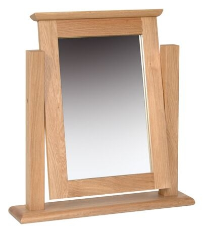 New oak mirror