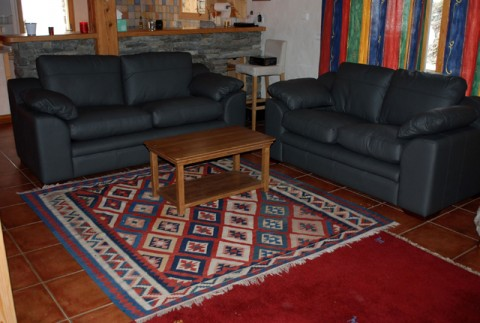 "Torosay 2 and 3 seat sofas in ""Shelley Steel"" leather"