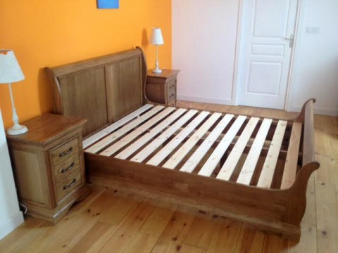 Oak Sleigh Bed Rustic Oak Finish Traditional Sleigh Bed