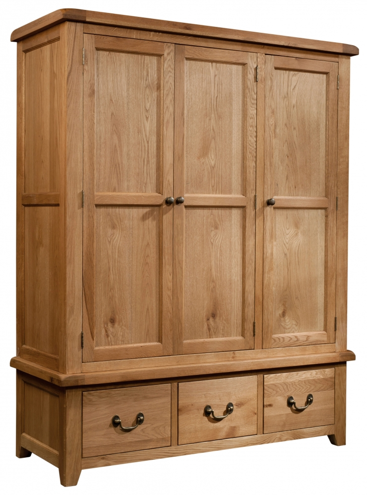 Som033-triple-wardrobe-with-3-drawers