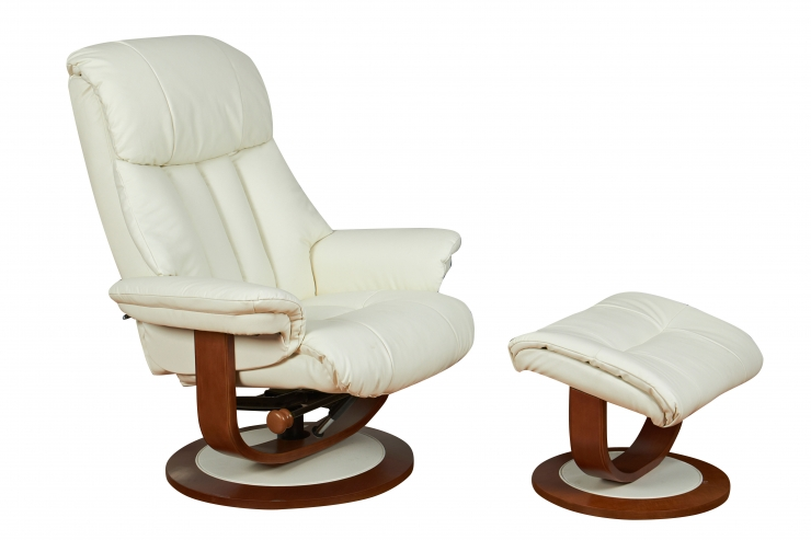 Sorrento Cream Leather Recliner Chair
