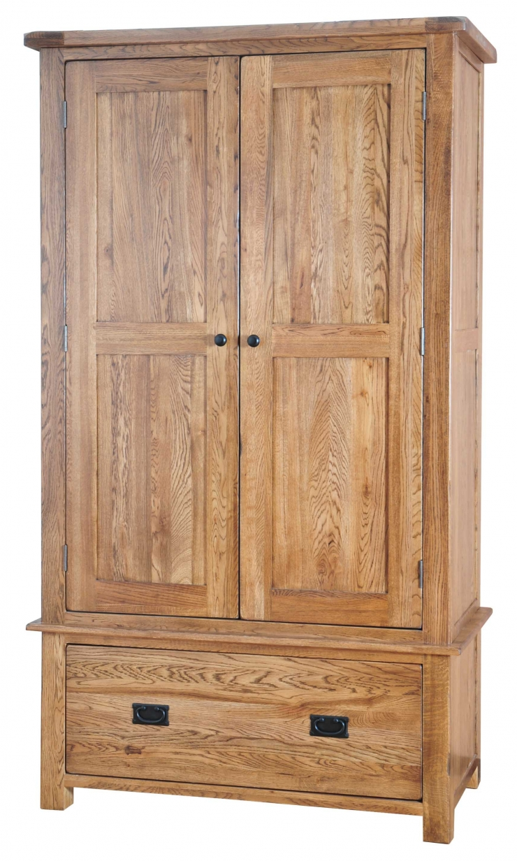 Rustic Oak Gents Wardrobe