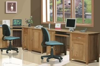 Pine and Oak office furniture for France
